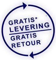 LEVERING EN RETOUR GRATIS