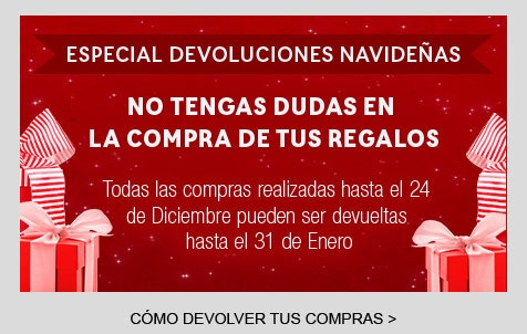 especial devoluciones navideñas