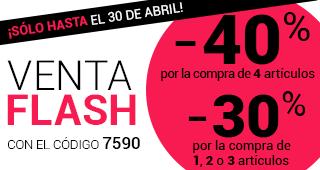 VENTA FLASH -40%*, -30%* INCLUIDAS GRANDES MARCAS