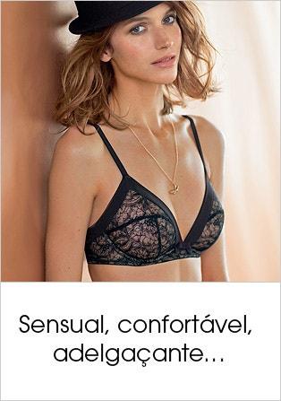 Lingerie sensual, confortável e adelgaçante