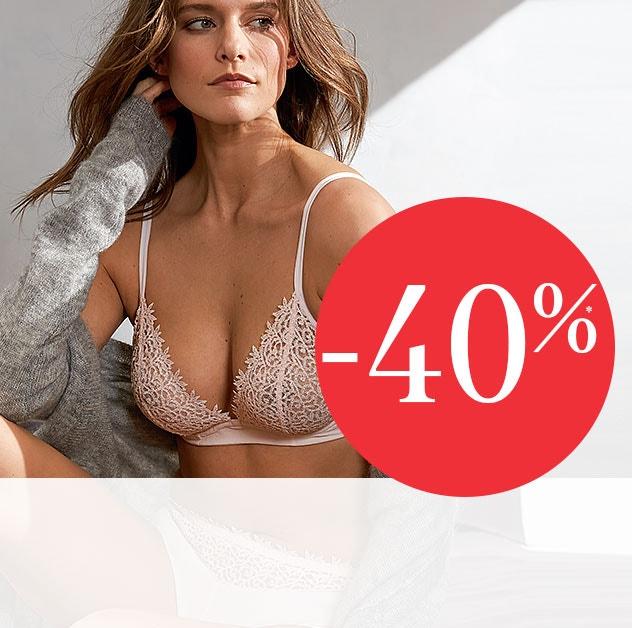 tudo a -40%* - Coleção Lingerie