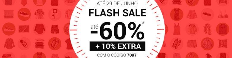 FLASH SALES até -60% + 10% EXTRA