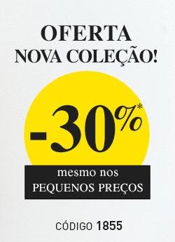 -30% na nova coleção