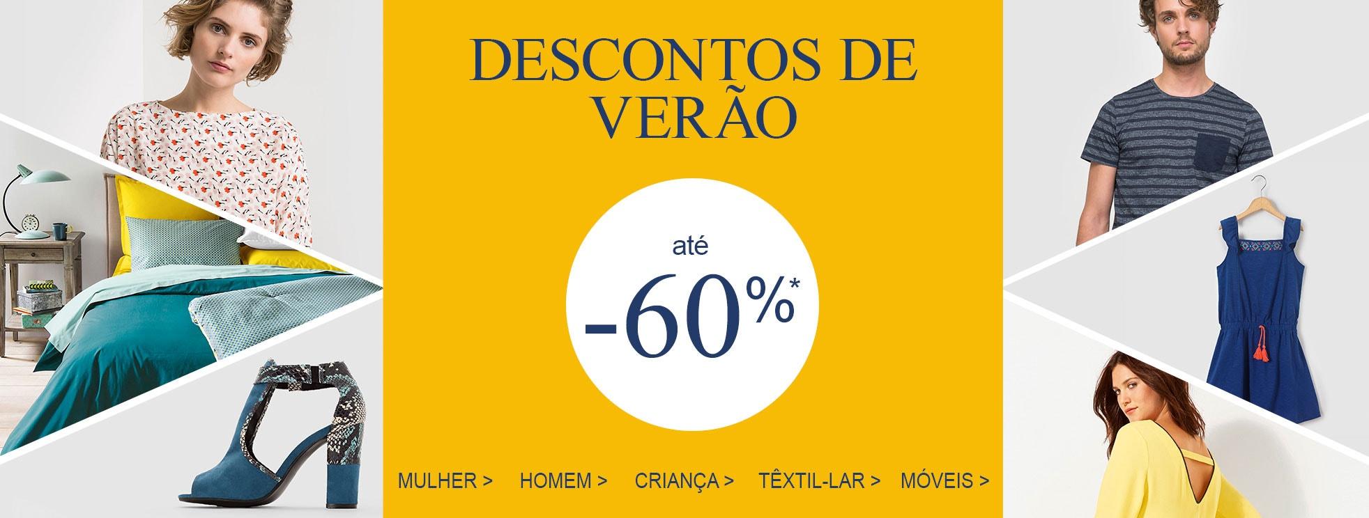 Descontos de verão MILHARES DE ARTIGOS ATÉ -50%
