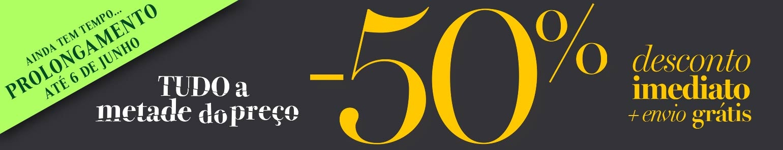 PROLONGAMENTO EXCECIONAL: -50% desconto imediato + envio grátis!