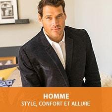 Homme. Style, confort et allure.