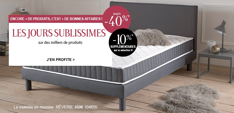 literie magasin de literie en ligne la redoute reves365 com. Black Bedroom Furniture Sets. Home Design Ideas
