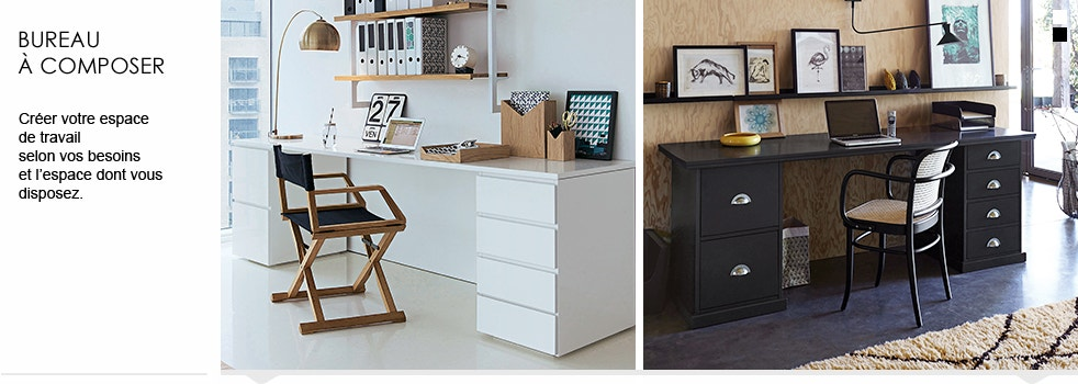 bureau composer meuble la redoute. Black Bedroom Furniture Sets. Home Design Ideas