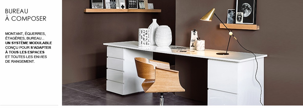 rangement bureau am pm la redoute. Black Bedroom Furniture Sets. Home Design Ideas