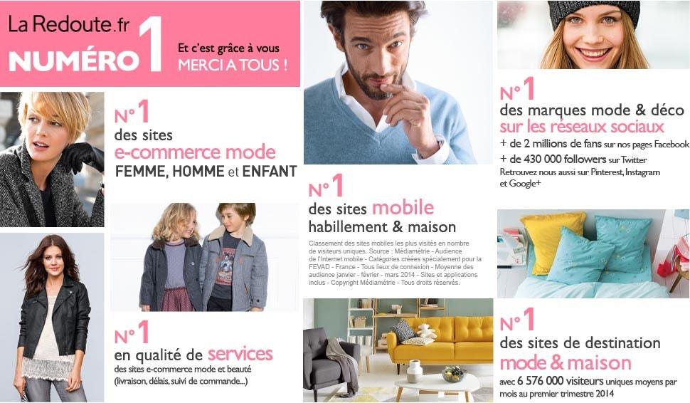 Numero 1 des sites e-commerce mode femme, enfant et homme