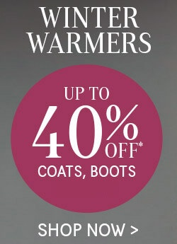 Winter Warmers up to 40% Off