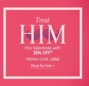 15% Off Valentines Day >