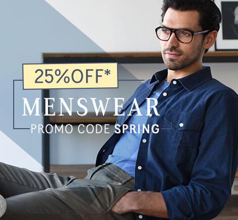 25% OFF Menswear