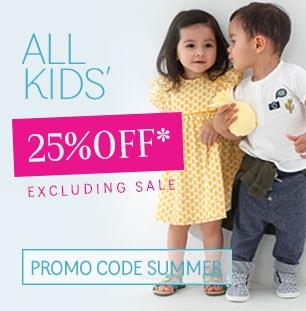 25% OFF KIDSWEAR