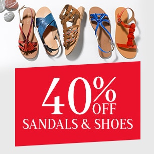 40% Off Sandals & Shoes