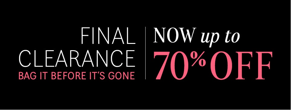 Final Clearance - Up to 70% Off