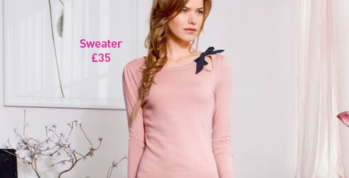 Fitted Wool Mix Jumper with Pretty Bow Trim