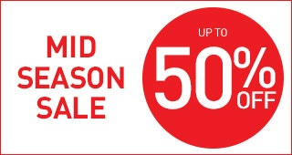 Mid Season Sale. Up to 50% off in our Mid Season Sale > Shop Now