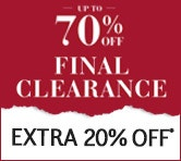 Final Clearance Extra 20% Off