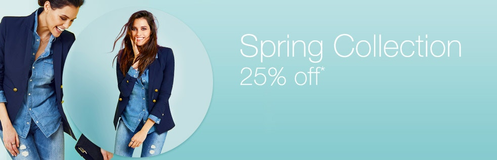 Spring Collection, 25% off*