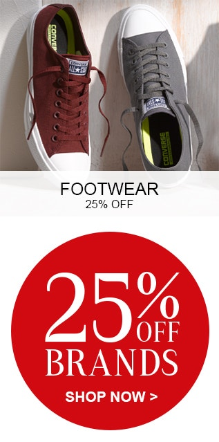 Footwear and 25% Off Brands
