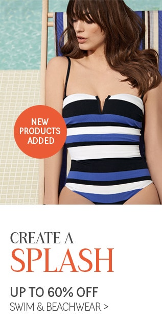 Create a Splash with 60% Off Swim & Beachwear