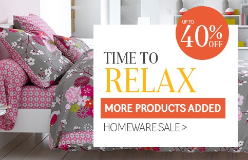 Time To Relax - Up to 60% Off Homeware Sale